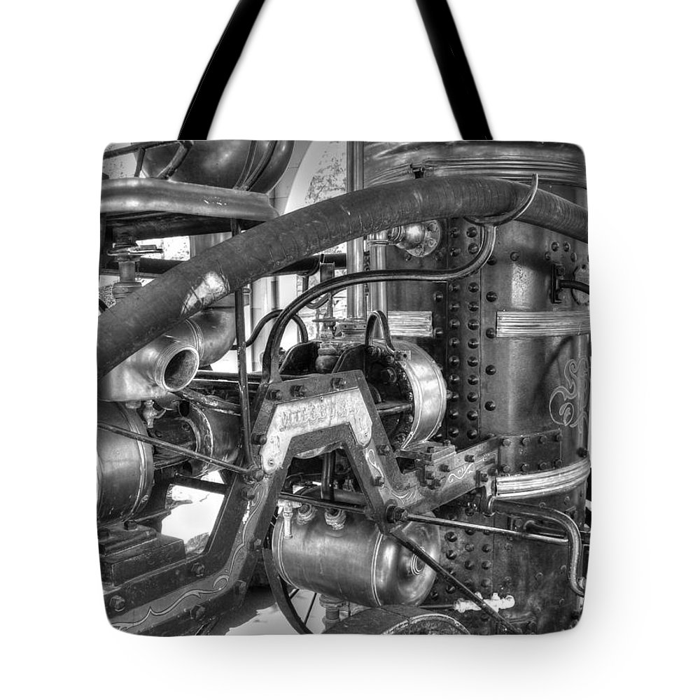 Fire Tote Bag featuring the photograph Old West Fire Wagon V4 by John Straton