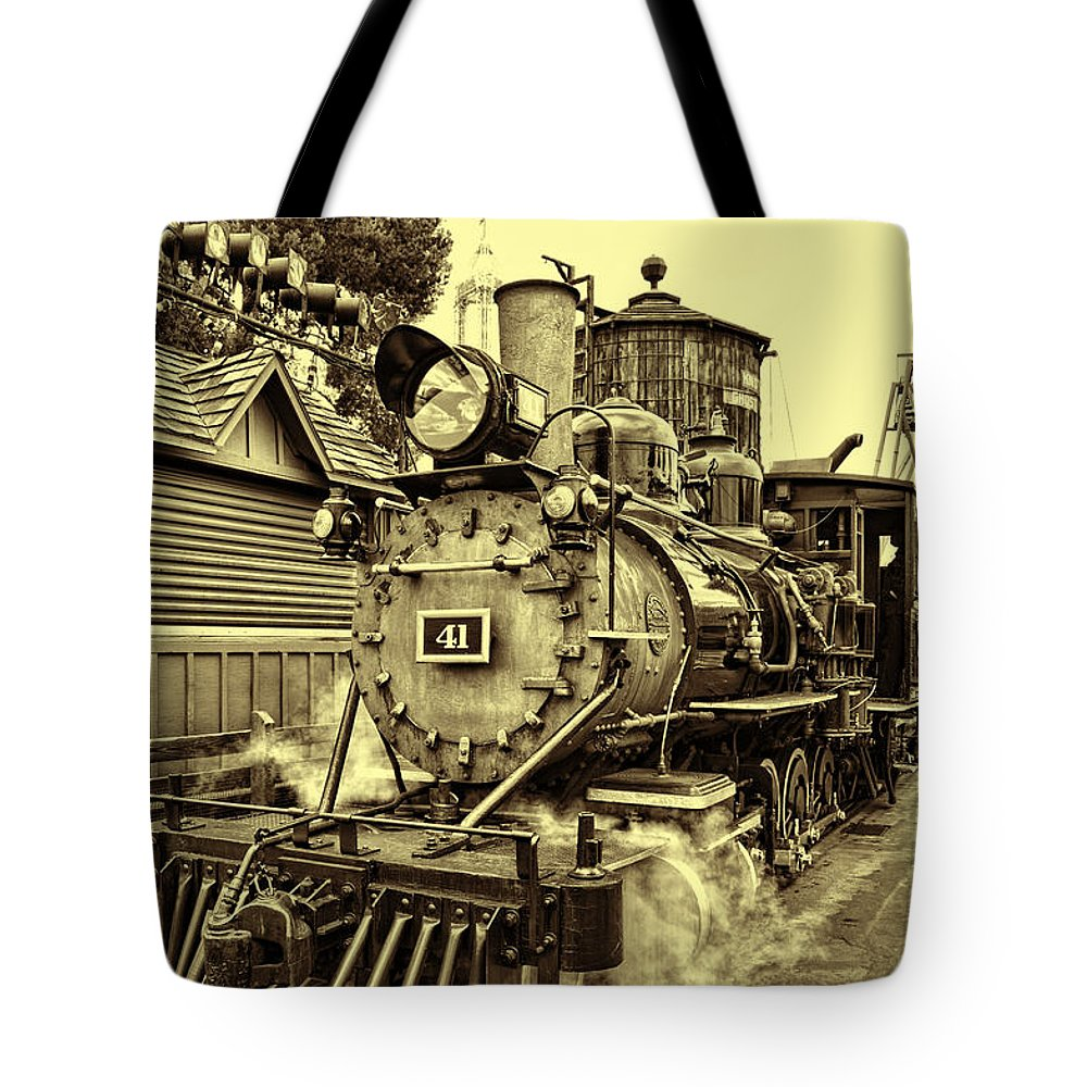 Tote Bag featuring the photograph Old Western Railroad by Tommy Anderson