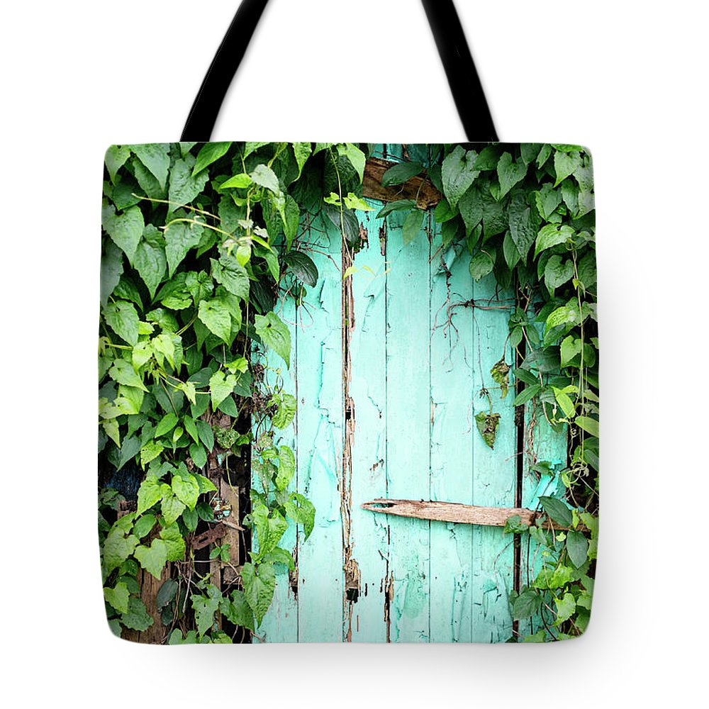 Outdoors Tote Bag featuring the photograph Old Wooden Door by Real444