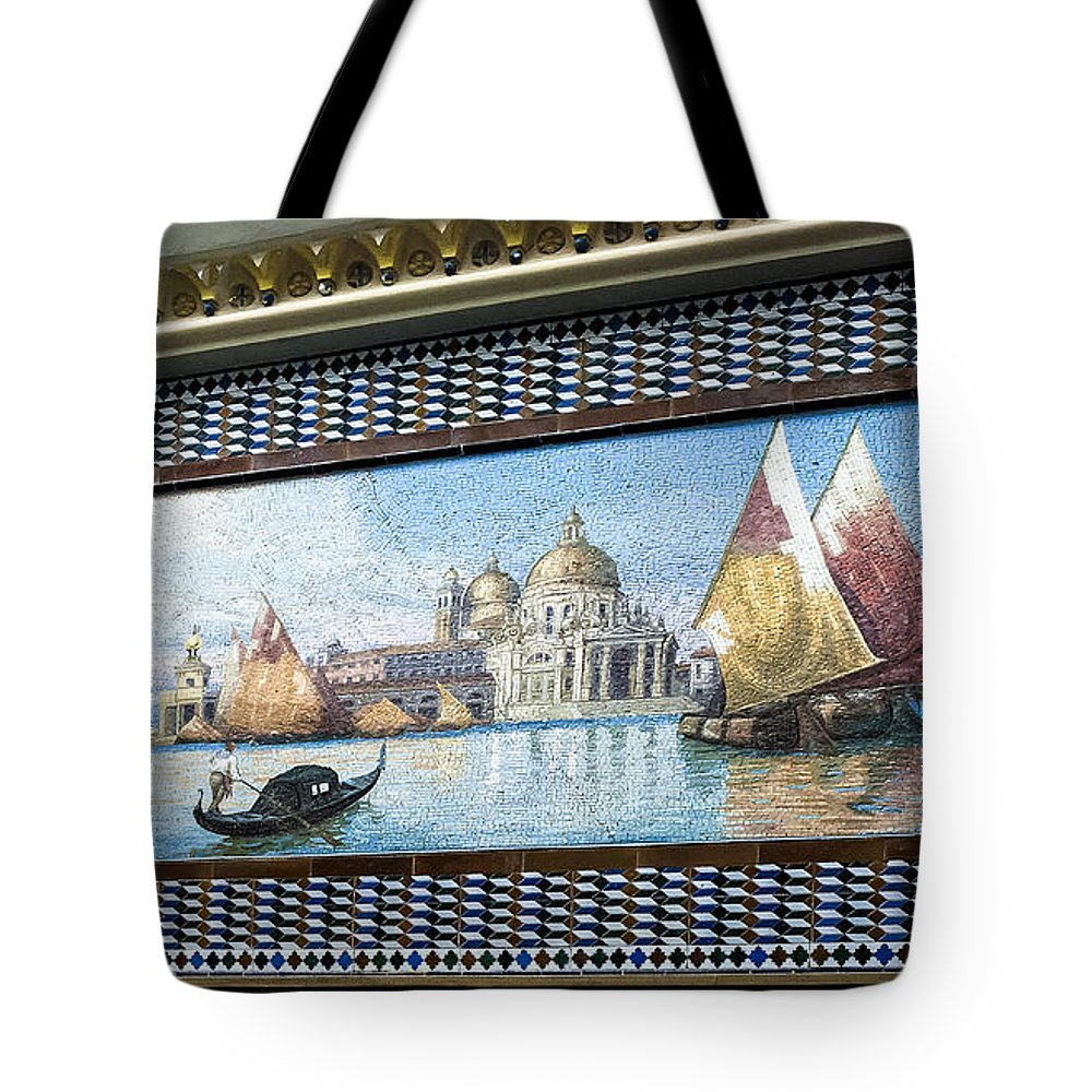 Tile Mosaic Tote Bag featuring the photograph Old World Port by Norman Johnson