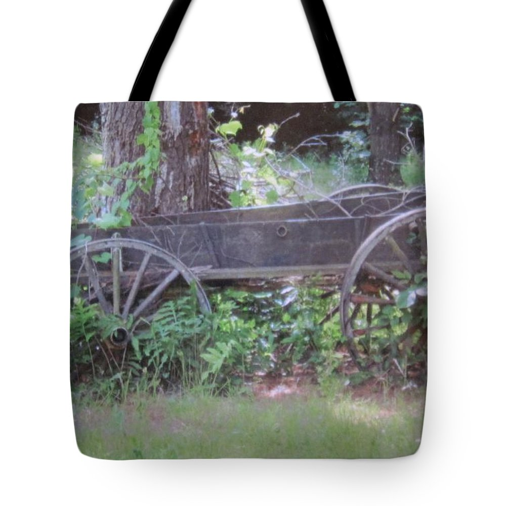 Wagons Tote Bag featuring the photograph Olden Days by Megan Walsh
