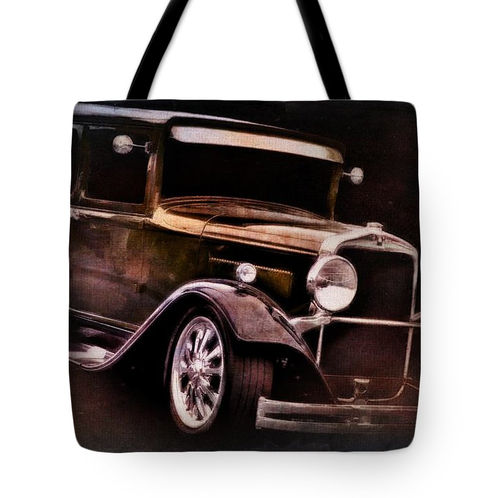 Classic Car Tote Bag featuring the photograph Oldie by Aaron Berg