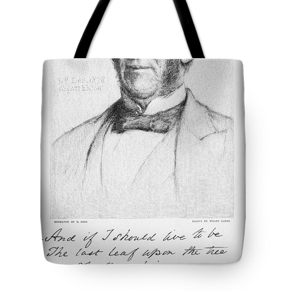 1879 Tote Bag featuring the photograph Oliver Wendell Holmes by Granger