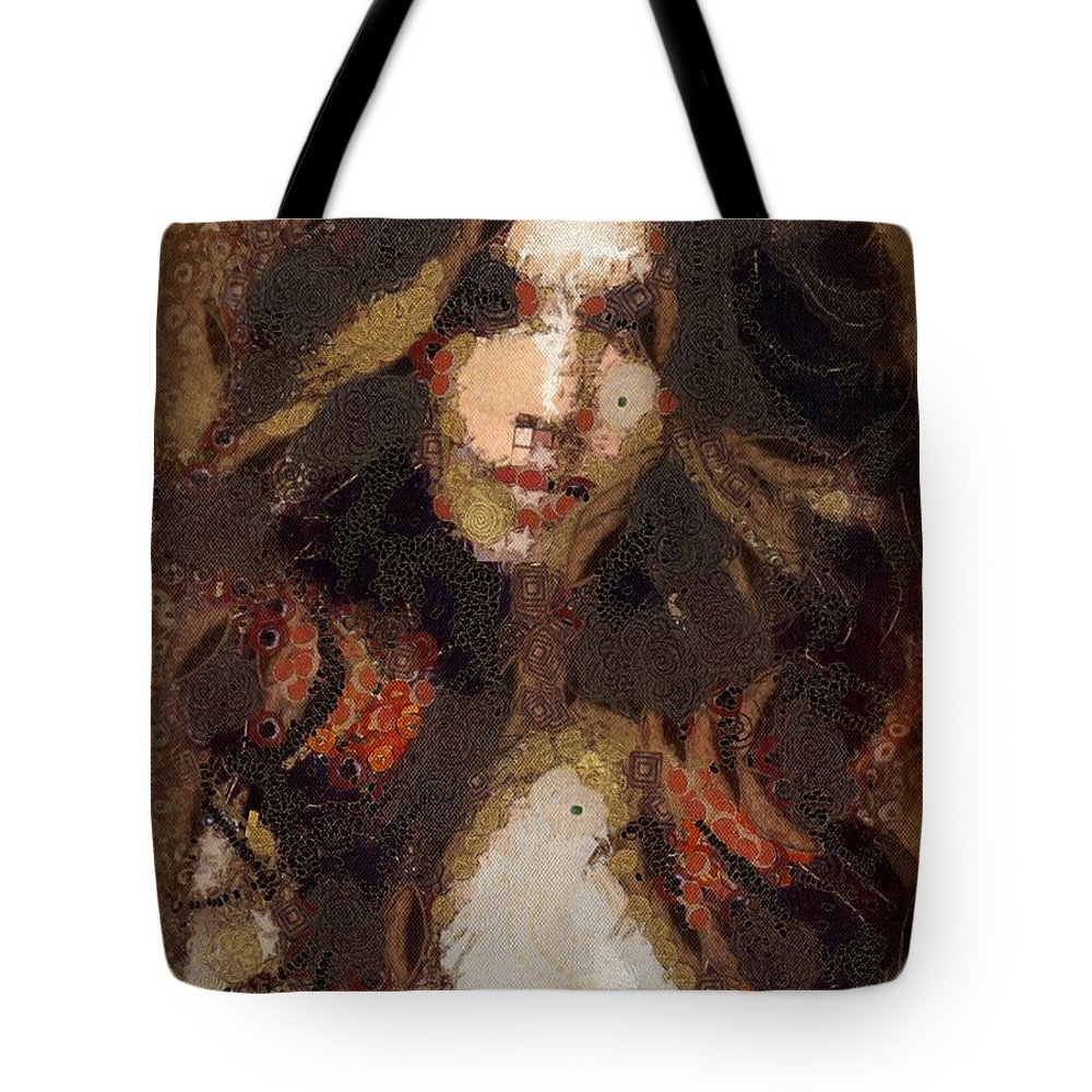 Ombre Tote Bag featuring the digital art Ombre by Catherine Lott