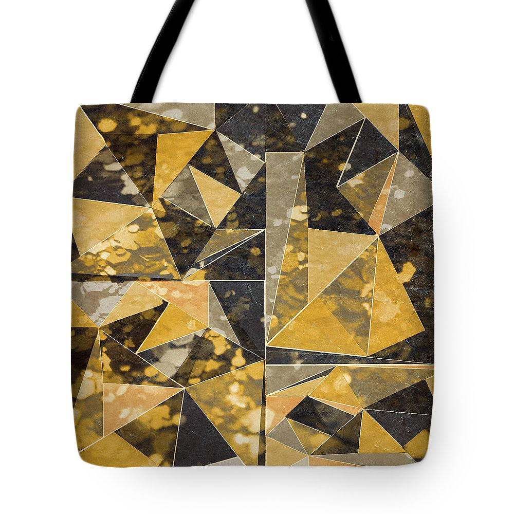 Omg Tote Bag featuring the digital art Omg Modern Triangles II by south Social Studio