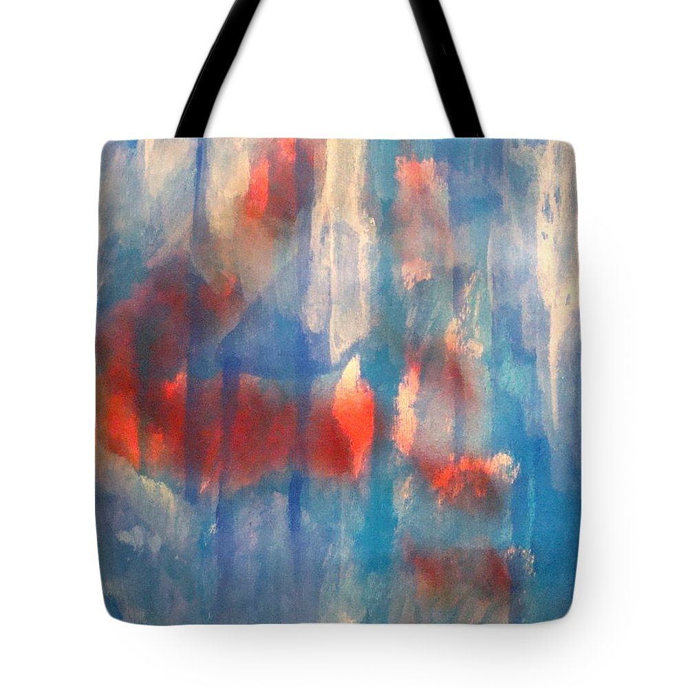 Christian Tote Bag featuring the painting On A Clear Day - Red Forever by W Todd Durrance