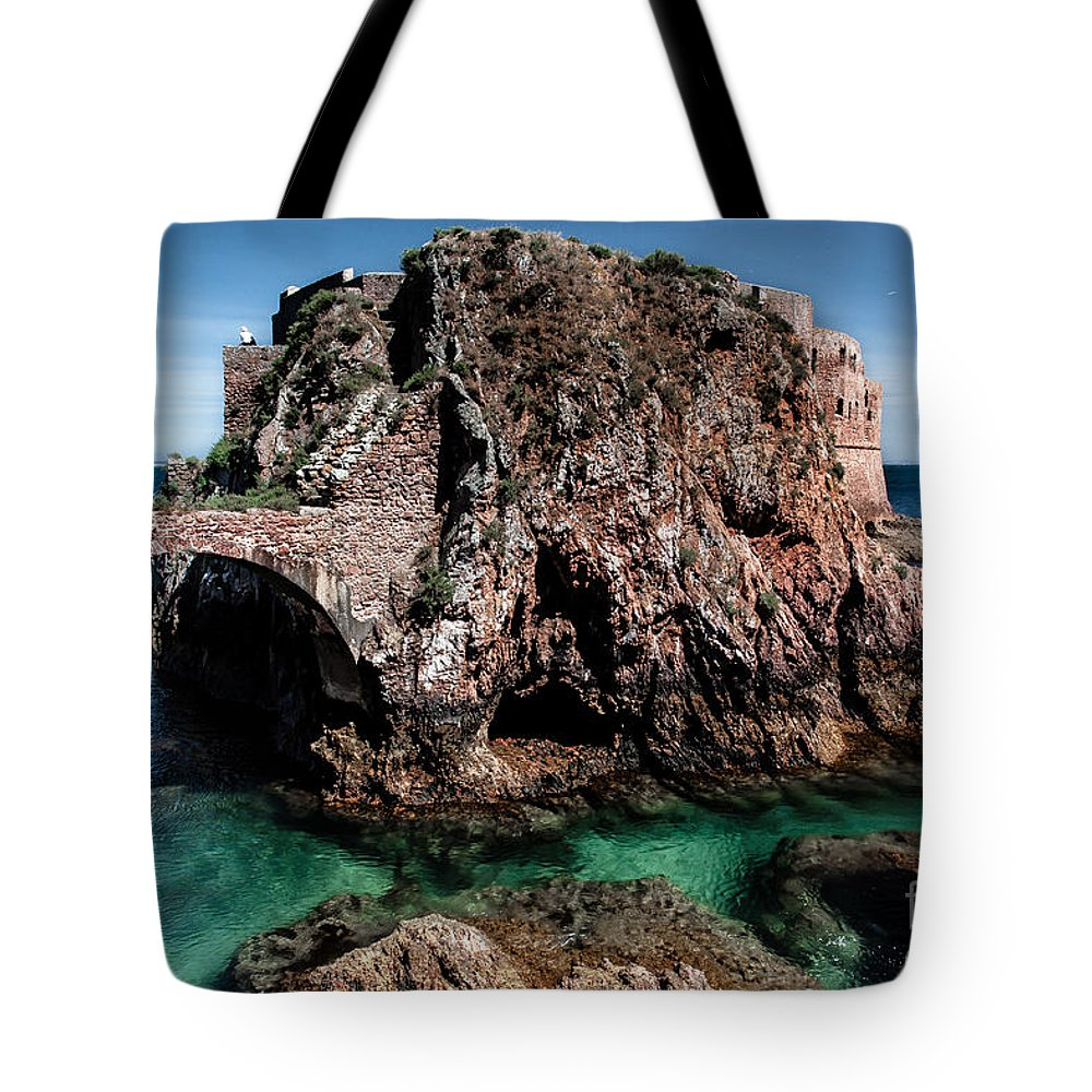 Berlengas Island Tote Bag featuring the photograph On Another Planet by Edgar Laureano