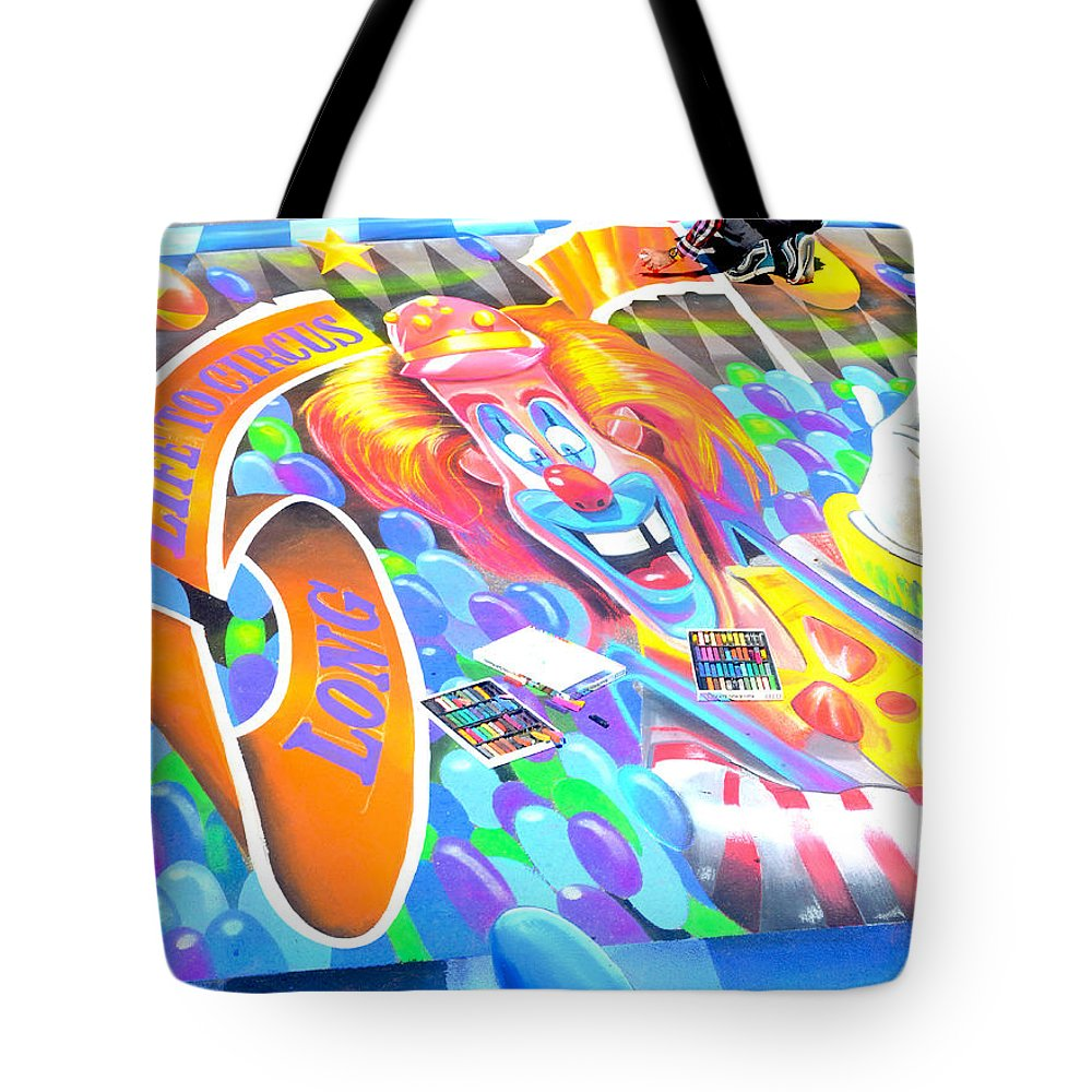 Chalk Art Tote Bag featuring the photograph On Pineapple Street by Roger Leege