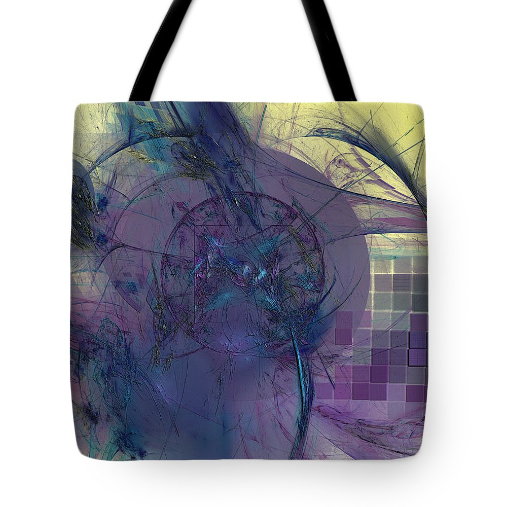 Abstract Tote Bag featuring the digital art On Psychic Energy by Jeff Iverson