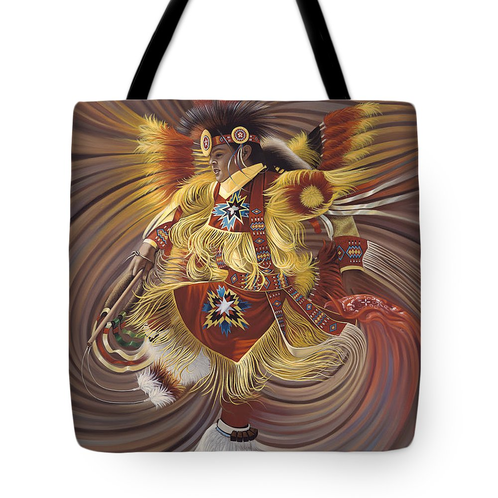 Sacred Tote Bag featuring the painting On Sacred Ground Series 4 by Ricardo Chavez-Mendez