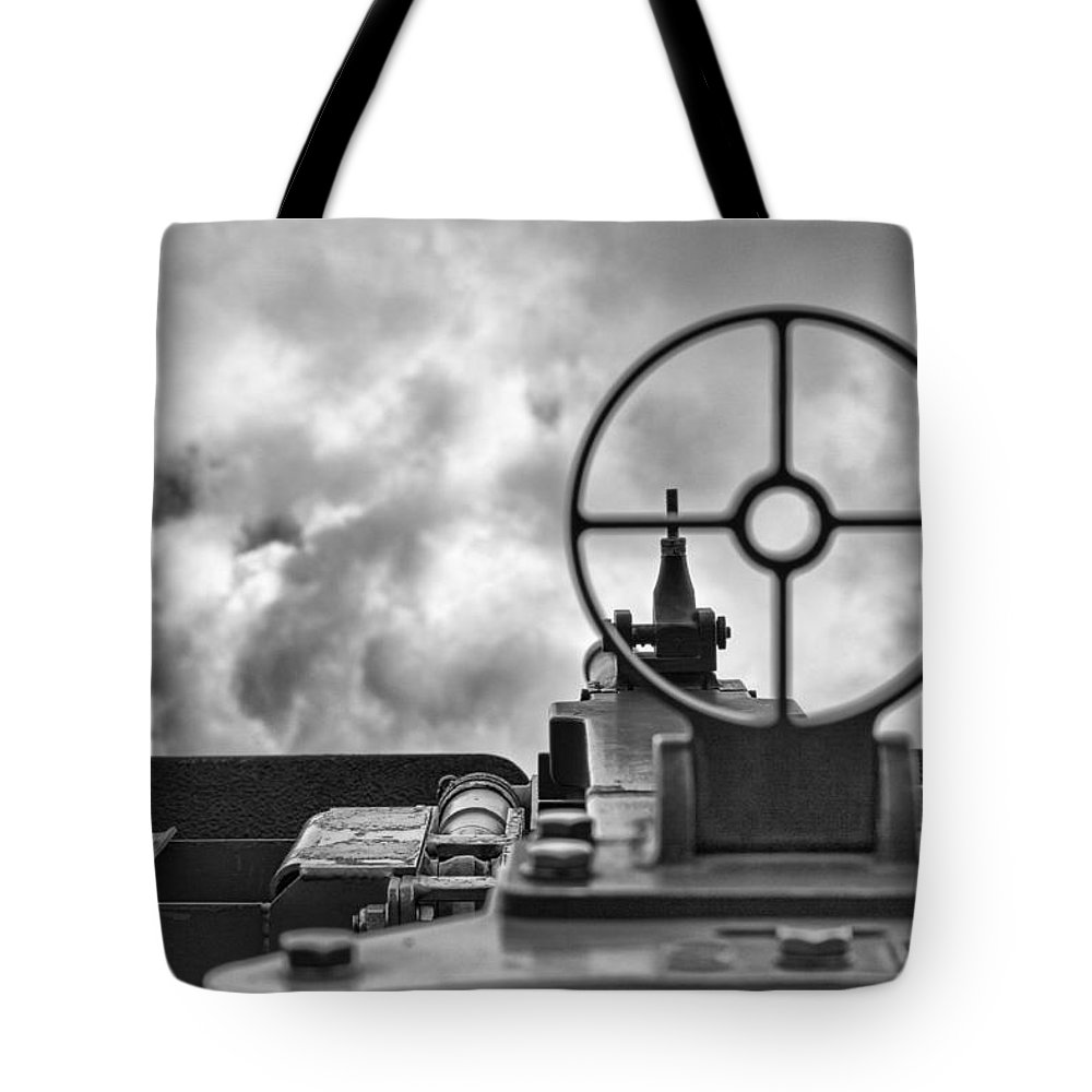 Mechanics Tote Bag featuring the photograph On Target by Douglas Barnard