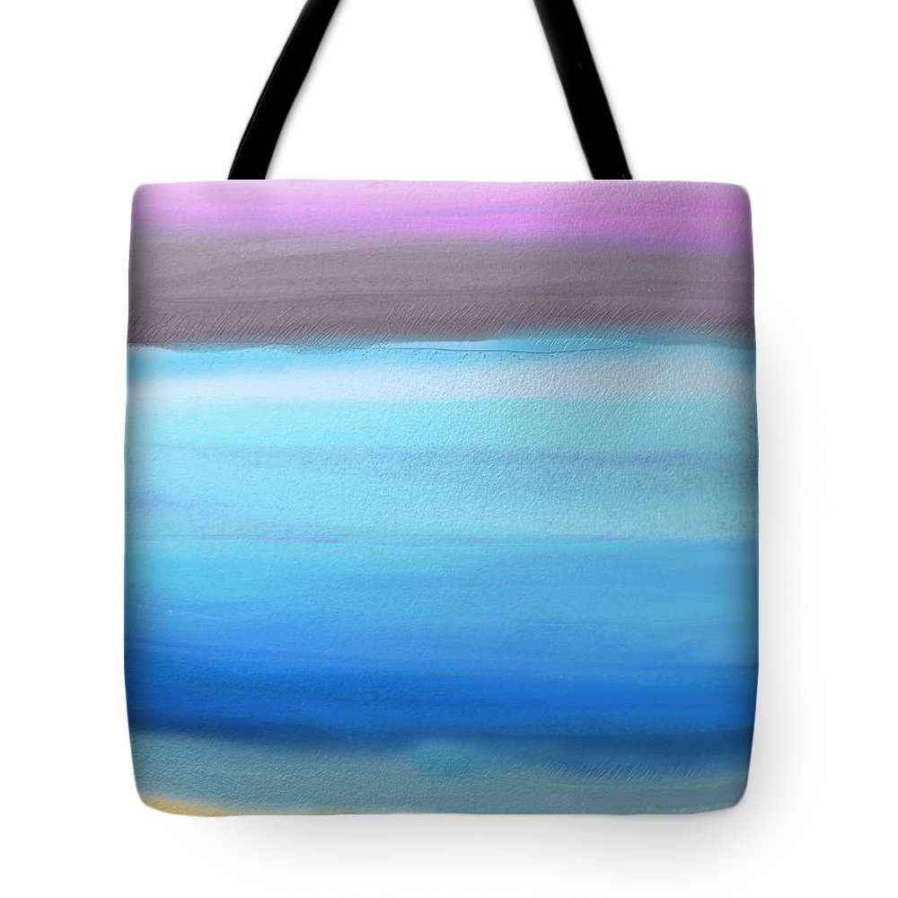Abstract Tote Bag featuring the painting On the Beach by Eliza Donovan