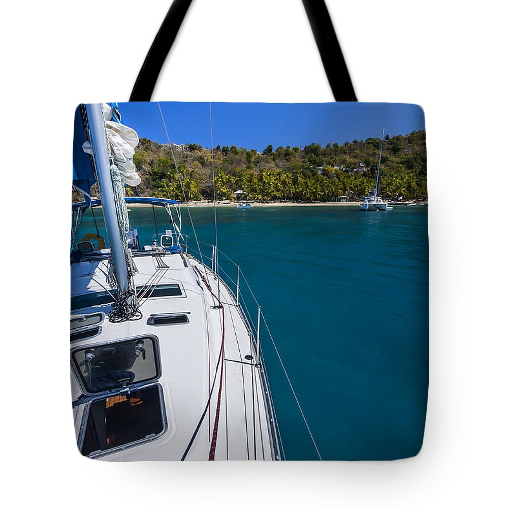 3scape Photos Tote Bag featuring the photograph On The Bow by Adam Romanowicz