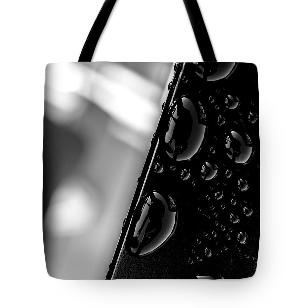 Abstract Tote Bag featuring the photograph On The Bridge by Bob Orsillo
