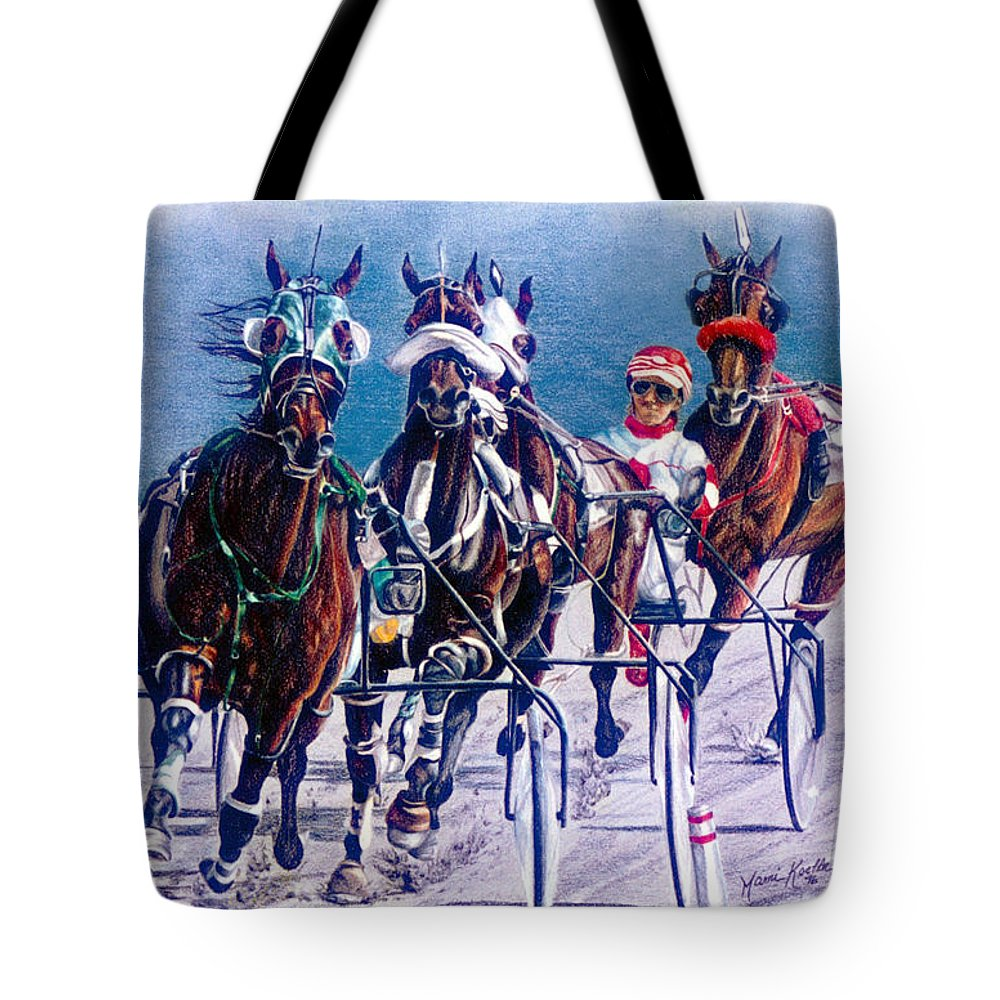 Horse Tote Bag featuring the painting On The Engine by Marni Koelln