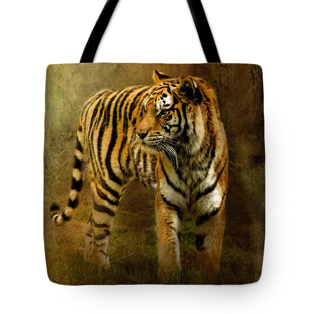 Bengal Tiger Tote Bag featuring the photograph On The Hunt by Betty LaRue