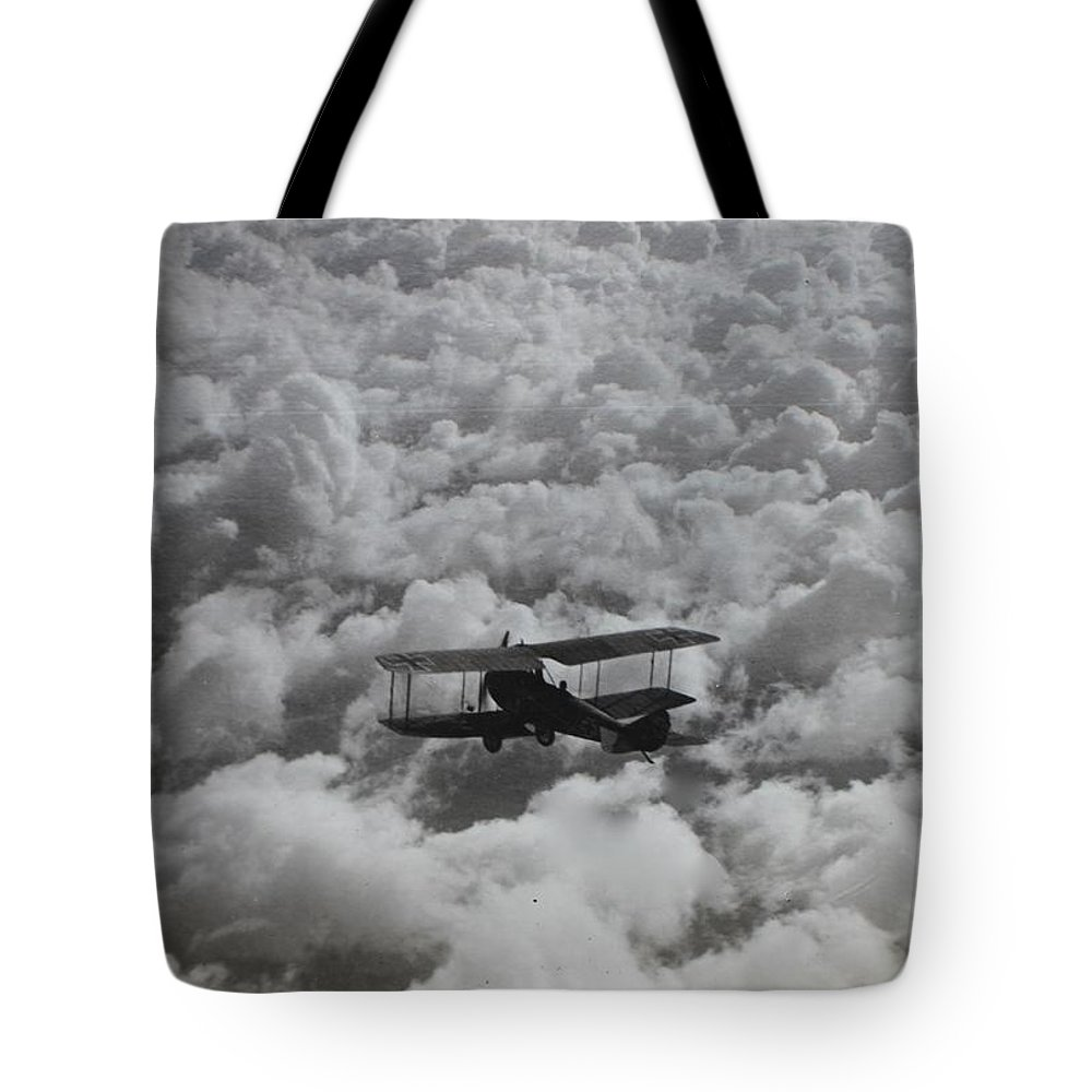 Albatros C.vii Tote Bag featuring the photograph On The Hunt by Robert Phelan