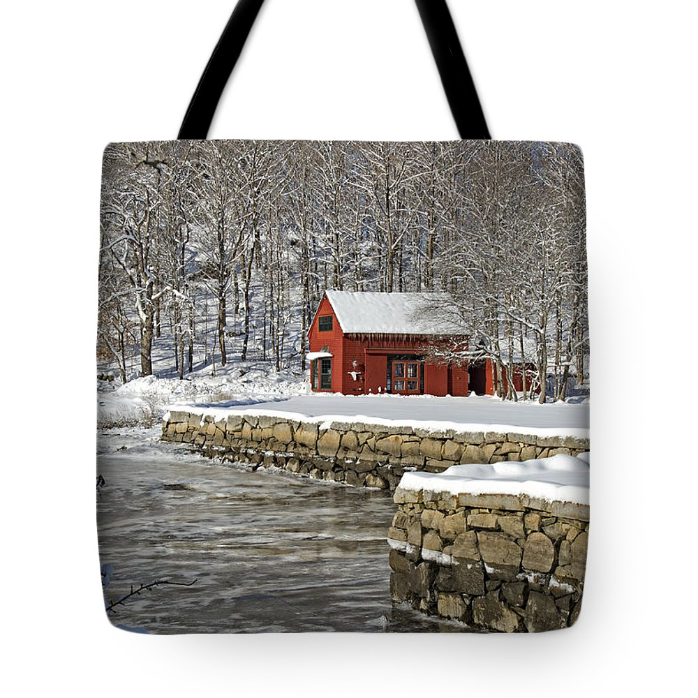 Barn Tote Bag featuring the photograph On The River by Donna Doherty
