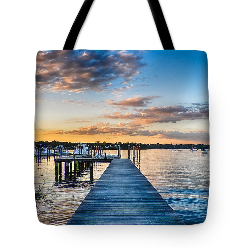 New Jersey Tote Bag featuring the photograph On the River by Kristopher Schoenleber