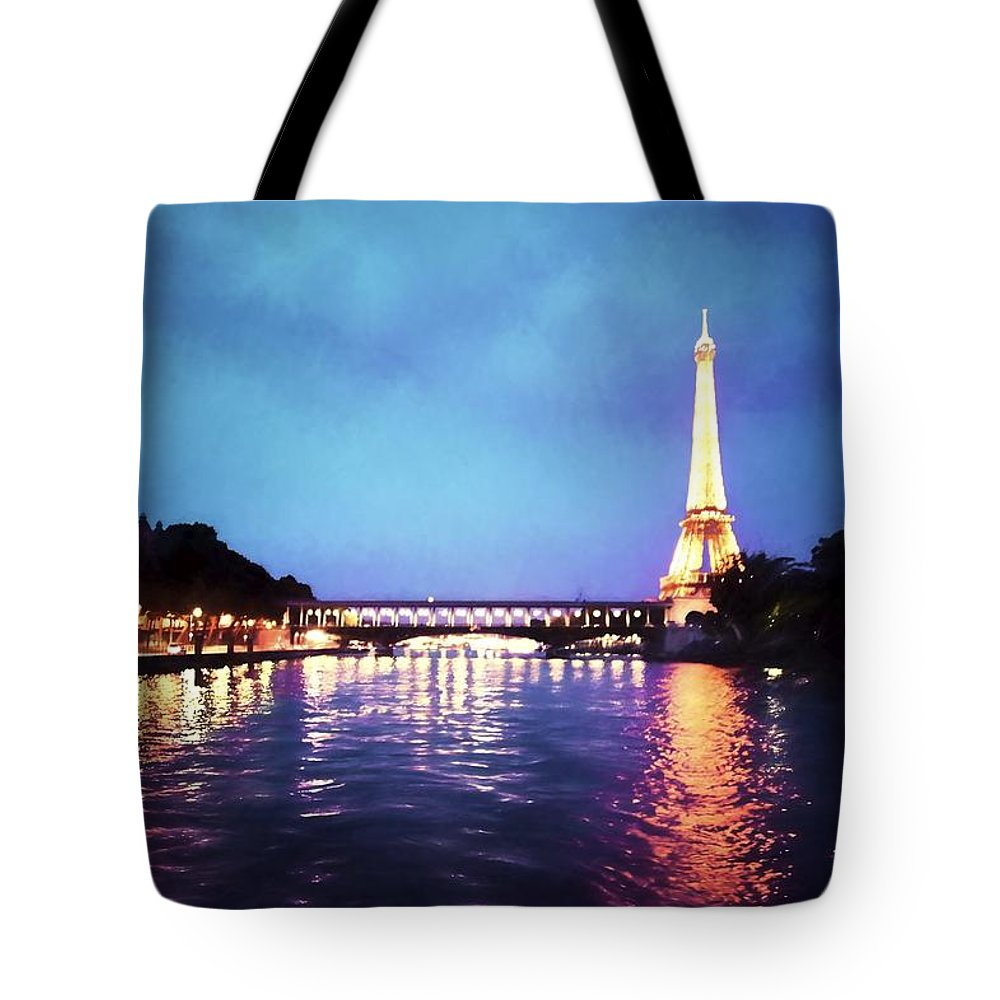 Paris Tote Bag featuring the photograph On The River Seine by Bill Howard