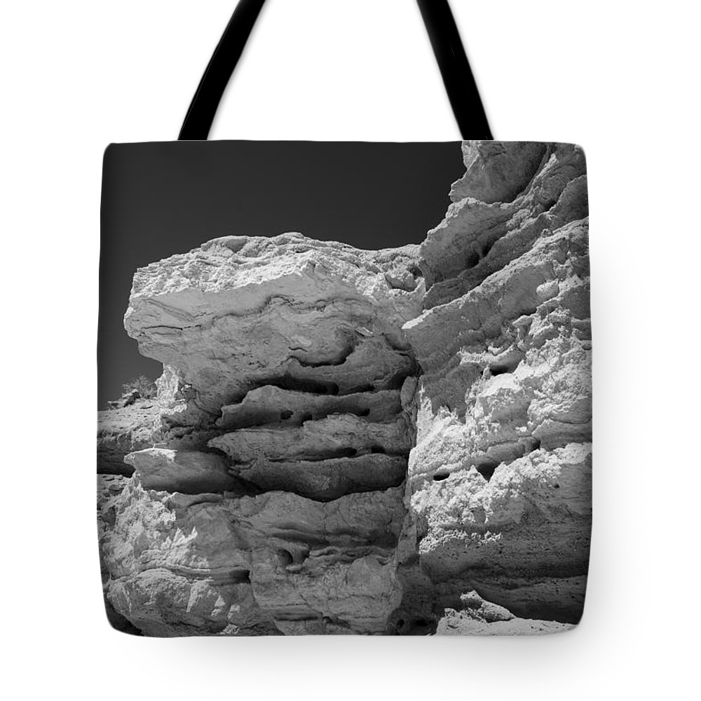Abstract Tote Bag featuring the photograph On The Rocks by Michele Cornelius