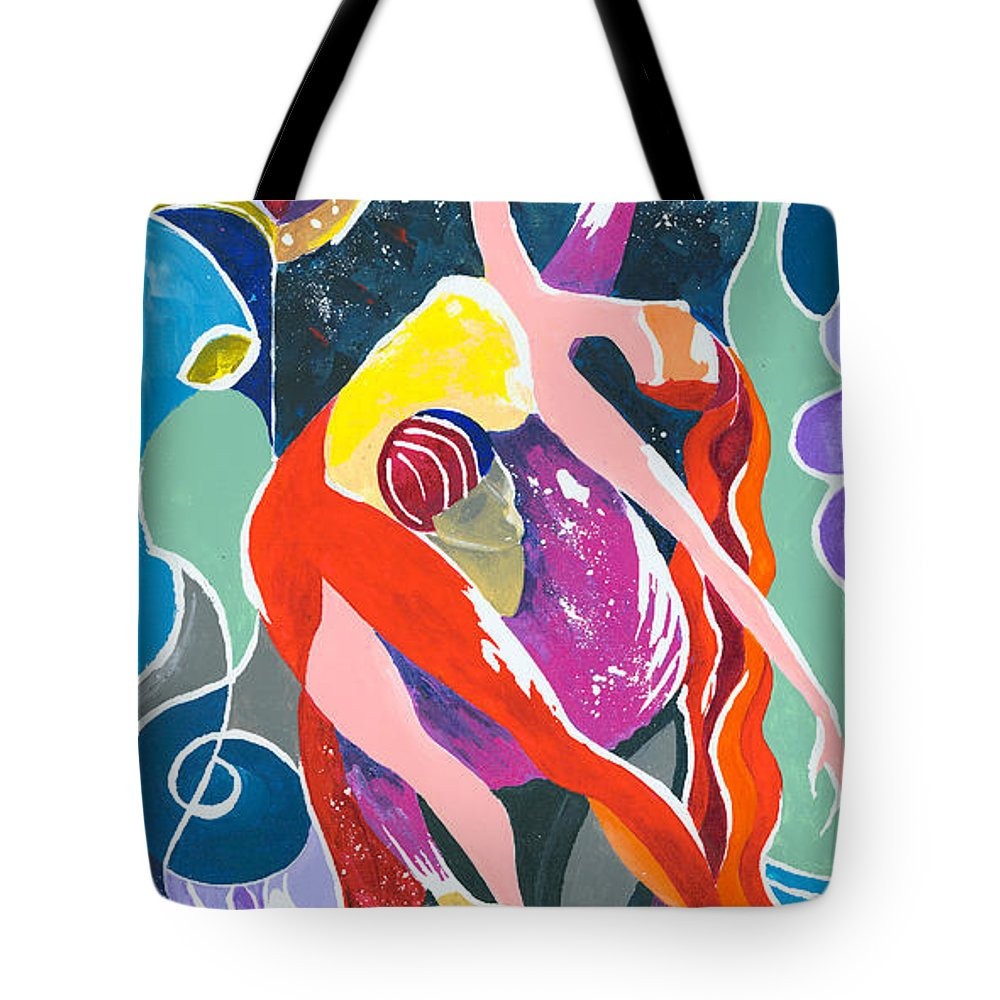 Canvas Prints Tote Bag featuring the painting On The Stage - Onegin In My Eyes by Elisabeta Hermann