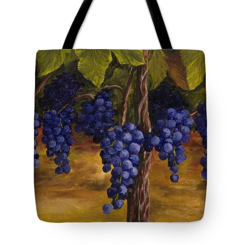 Kitchen Art Tote Bag featuring the painting On The Vine by Darice Machel McGuire
