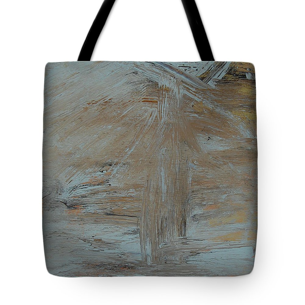 Way Tote Bag featuring the painting On The Way by Sirenes
