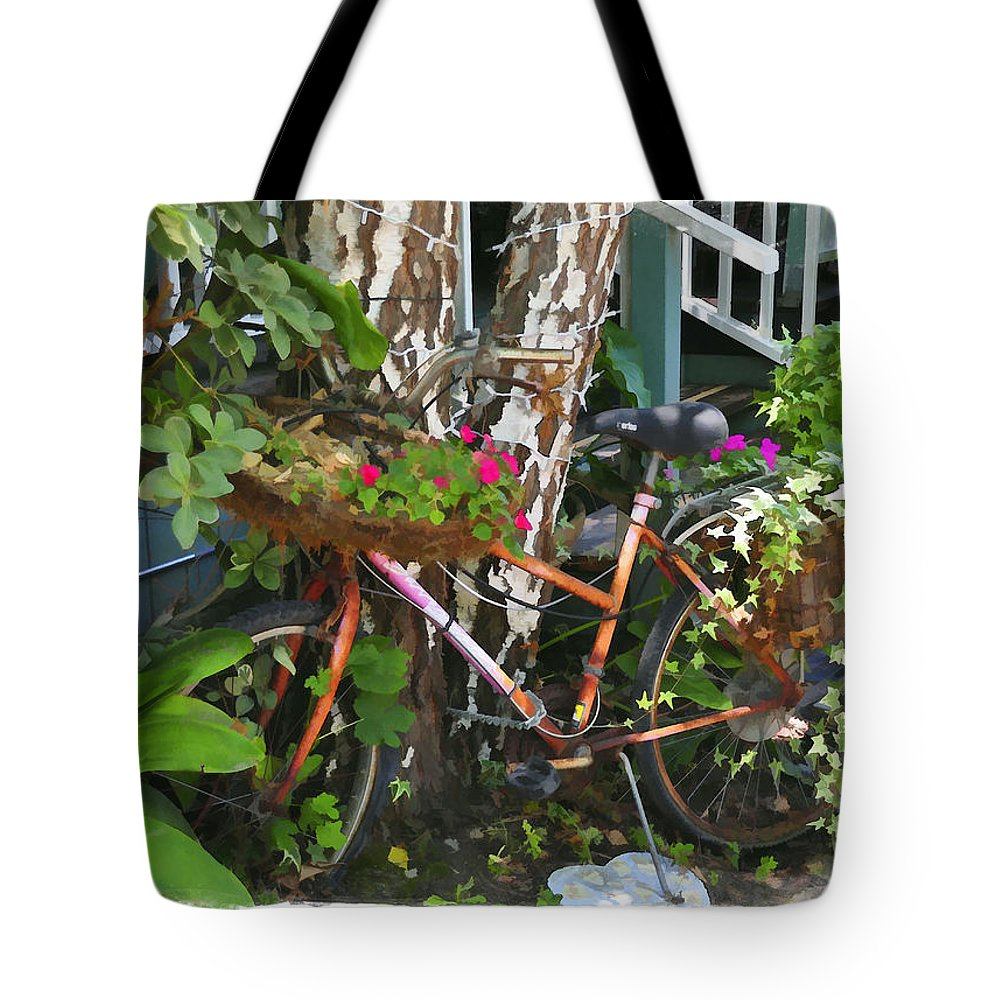 Bike Tote Bag featuring the photograph Once A Nice Ride by Diane Wood