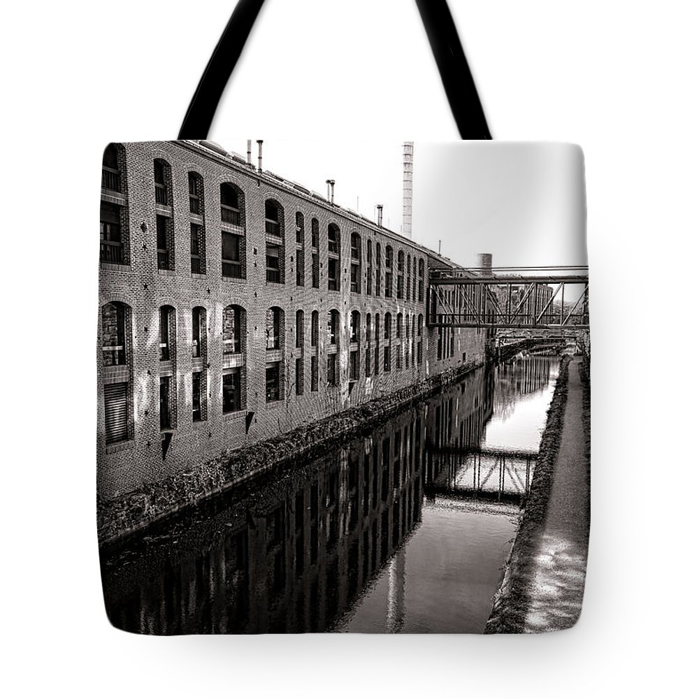 Washington Tote Bag featuring the photograph Once Industrial Georgetown by Olivier Le Queinec