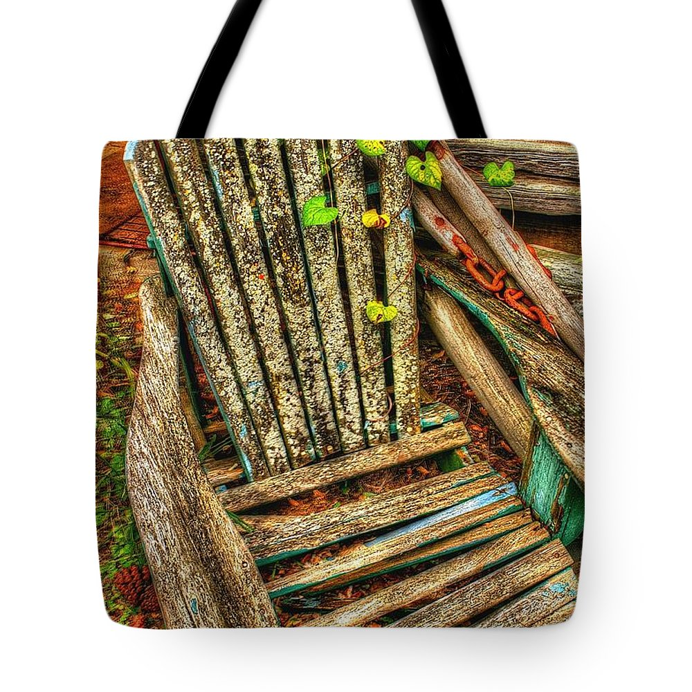 Chair Tote Bag featuring the photograph Once Was by Randy Pollard