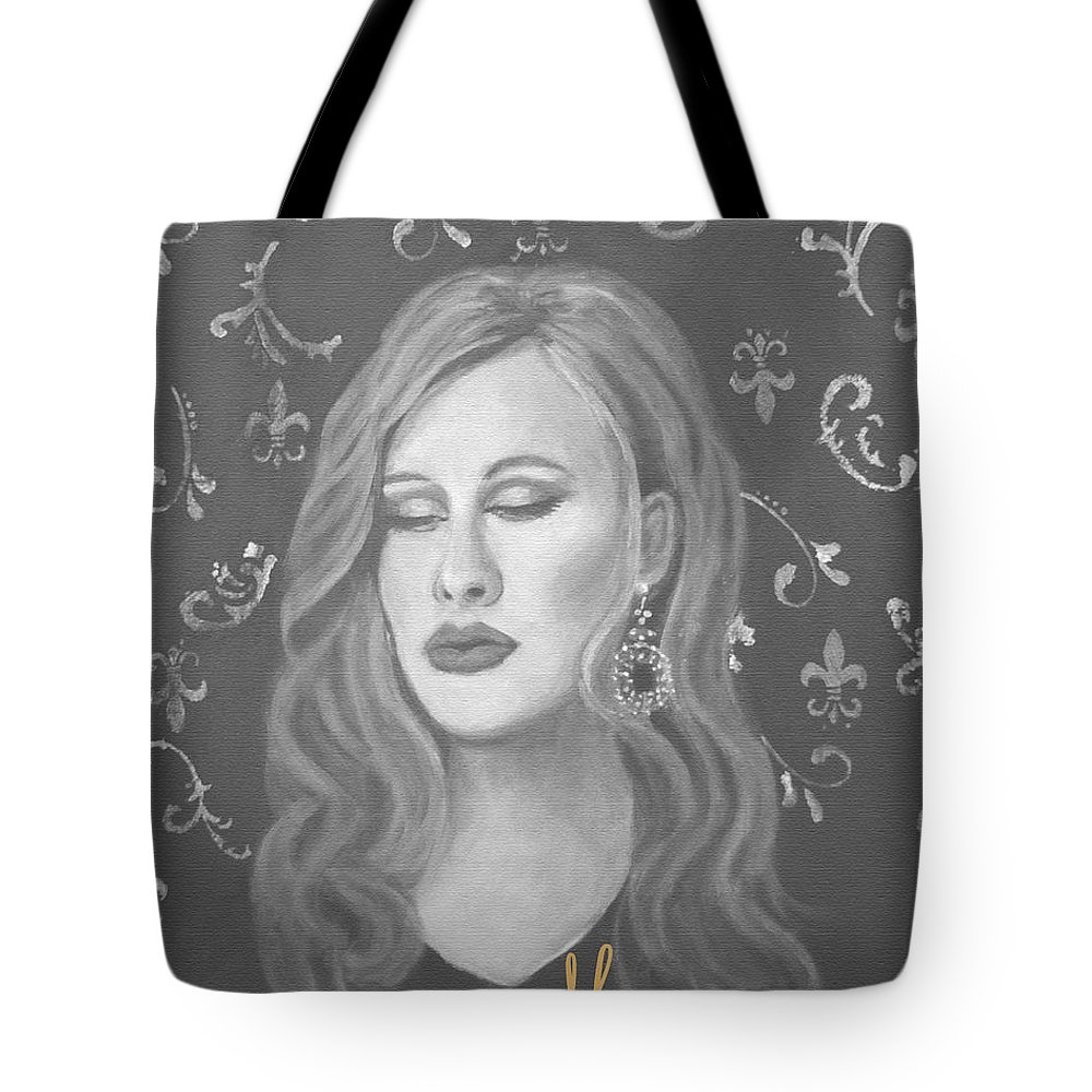 Adele Inspired Tote Bag featuring the painting One And Only by The Art With A Heart By Charlotte Phillips