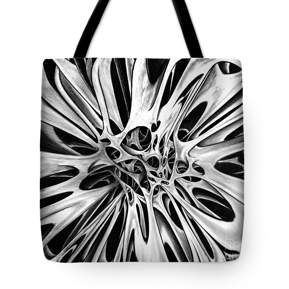 One Tote Bag featuring the drawing One Big Mistake 4 by Peter Piatt