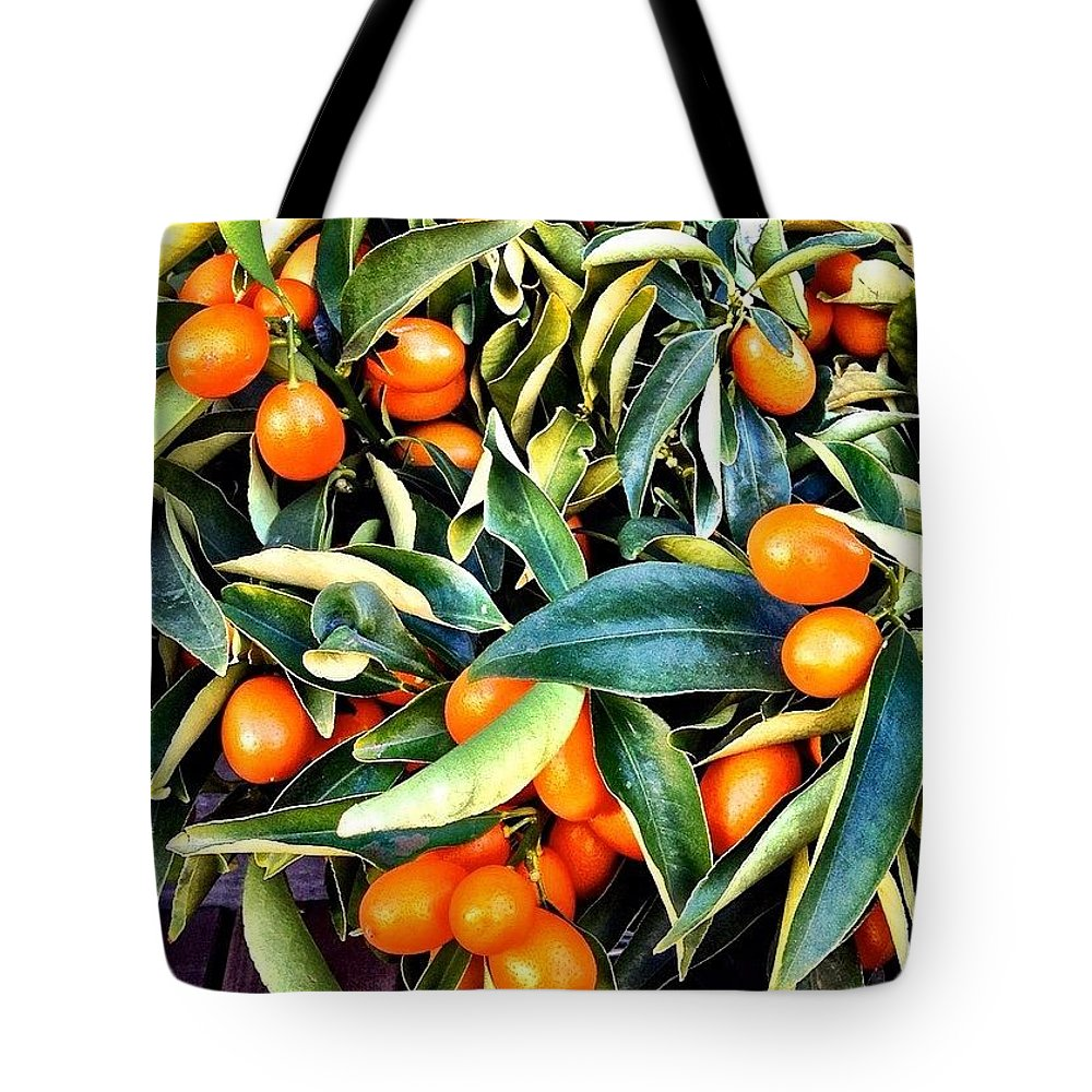 Jj_simplethings Tote Bag featuring the photograph Kumquats by Julie Gebhardt