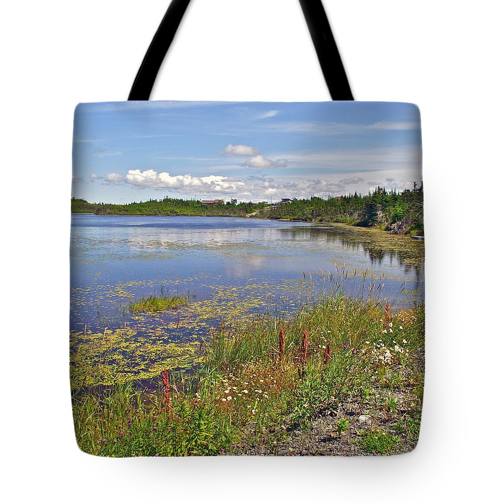One Of Many Lakes Tote Bag featuring the photograph One Of Many Lakes In Newfoundland by Ruth Hager