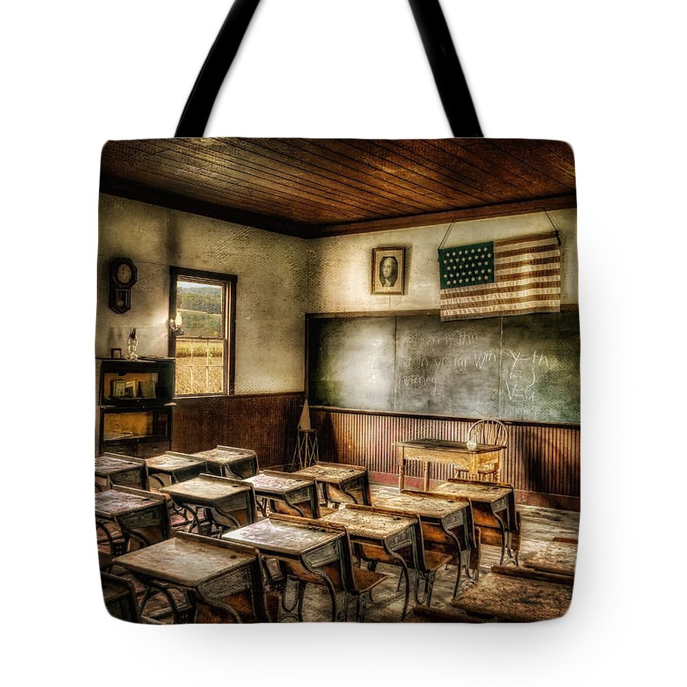School Tote Bag featuring the photograph One Room School by Lois Bryan