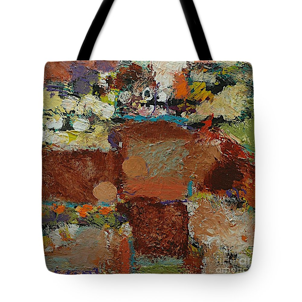 Landscape Tote Bag featuring the painting One Way by Allan P Friedlander
