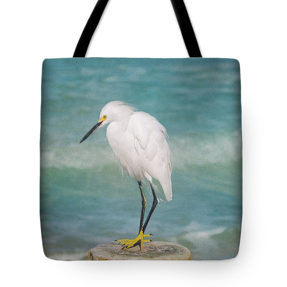 Egret Tote Bag featuring the photograph One With Nature - Snowy Egret by Kim Hojnacki