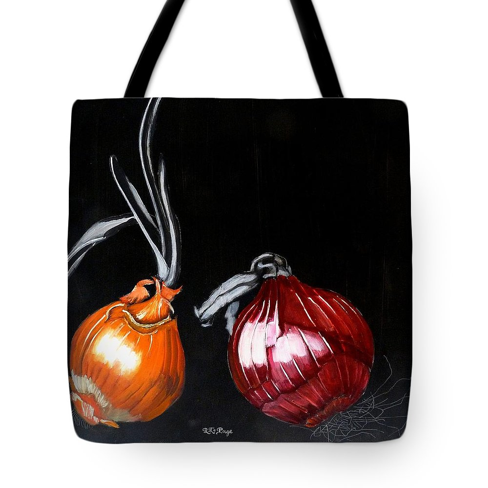 Onions Tote Bag featuring the painting Onions by Richard Le Page