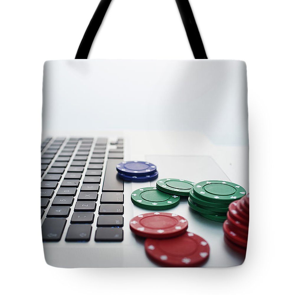 Internet Tote Bag featuring the photograph Online Gambling by John Lamb