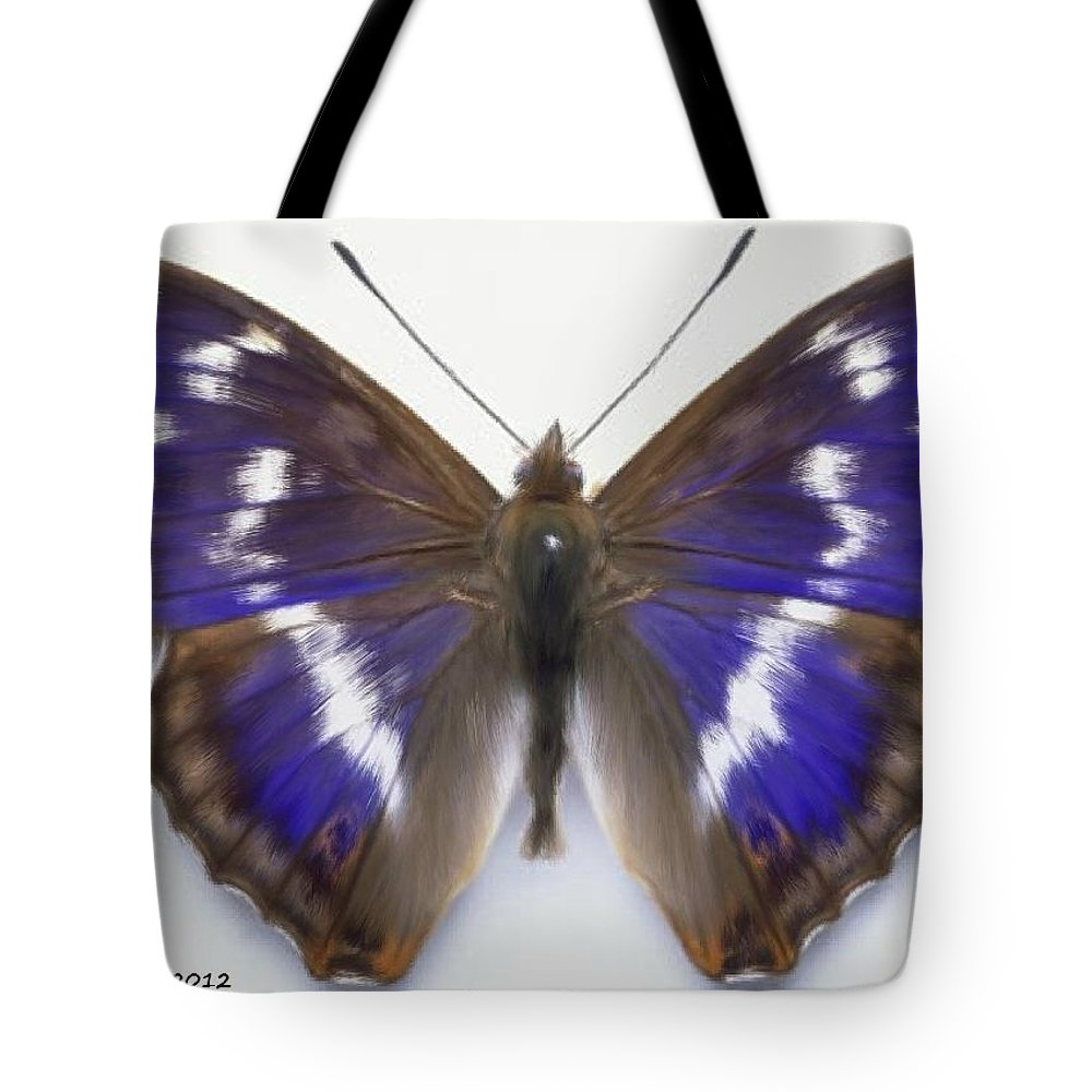 Butterfly Tote Bag featuring the painting Only One by Bruce Nutting