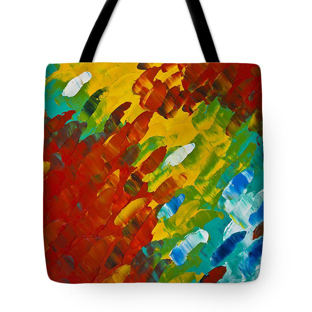 Color Tote Bag featuring the painting Only Till Eternity 2nd Panel by Sharon Cummings