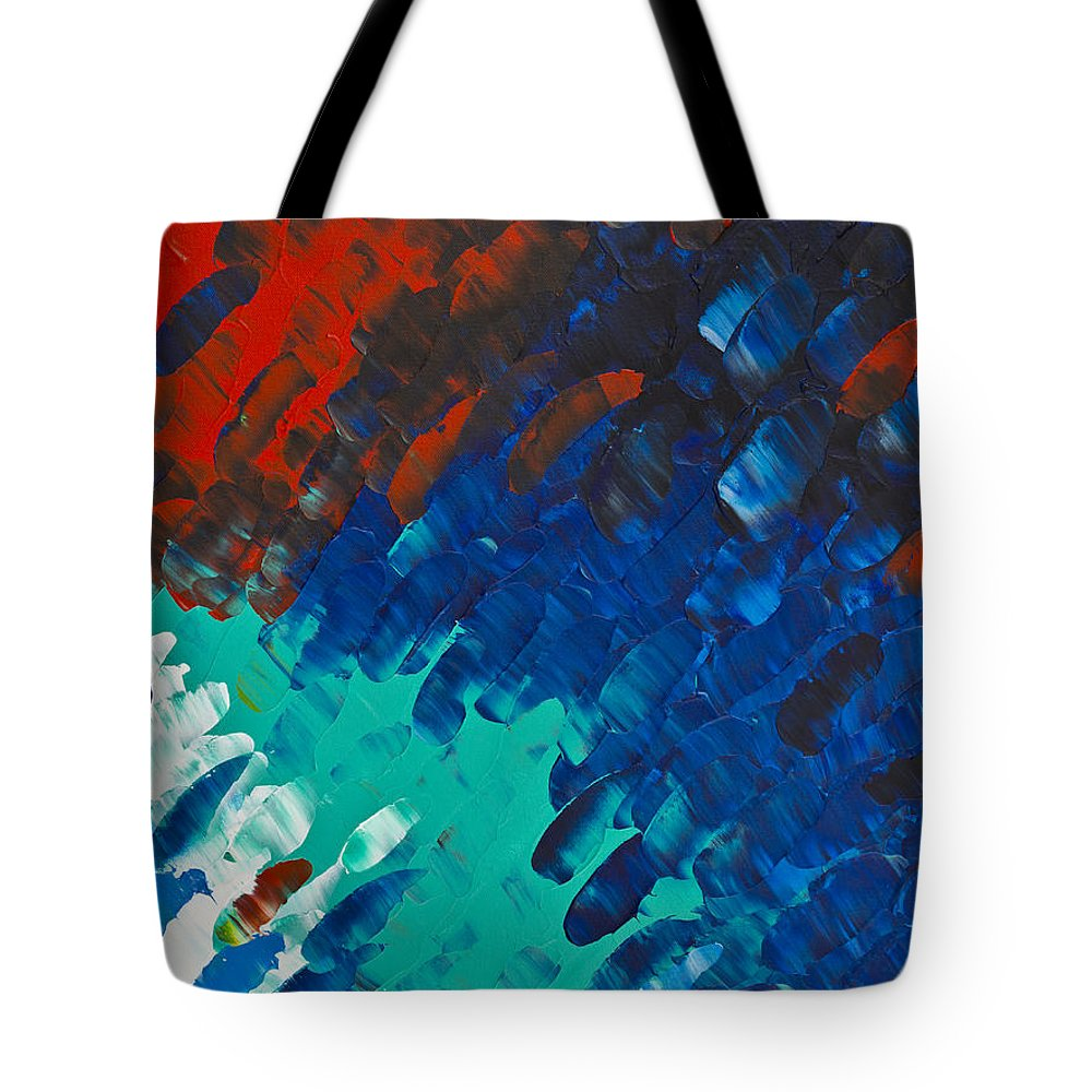 Color Tote Bag featuring the painting Only Till Eternity 3rd Panel by Sharon Cummings