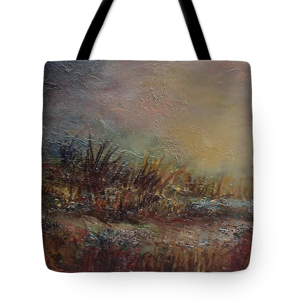 Irish Landscape Tote Bag featuring the painting Onset Of Evening by Donna McGee