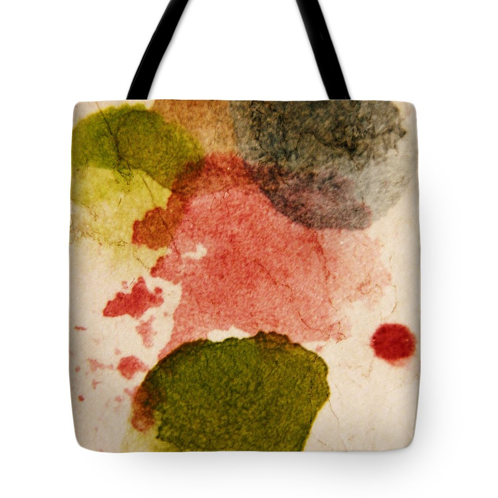 Abstract Tote Bag featuring the painting Open Heart by Andrea Anderegg