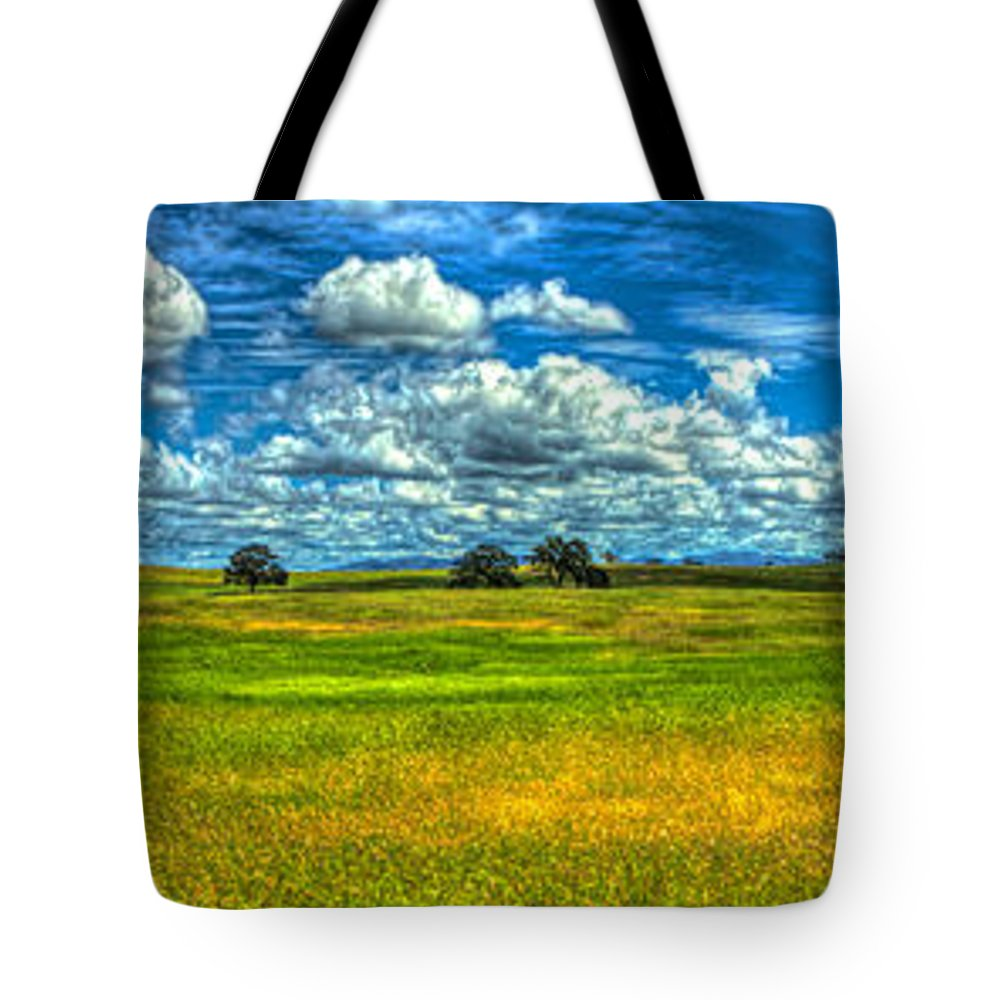 Amador Tote Bag featuring the photograph Open Pastures by SC Heffner