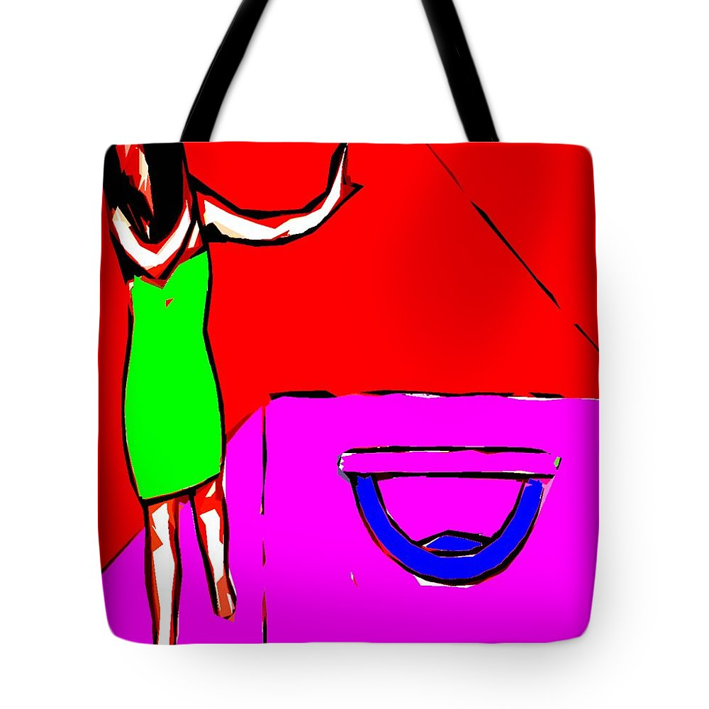 Philosophy Tote Bag featuring the painting Opening Pandora's Box by Patrick J Murphy
