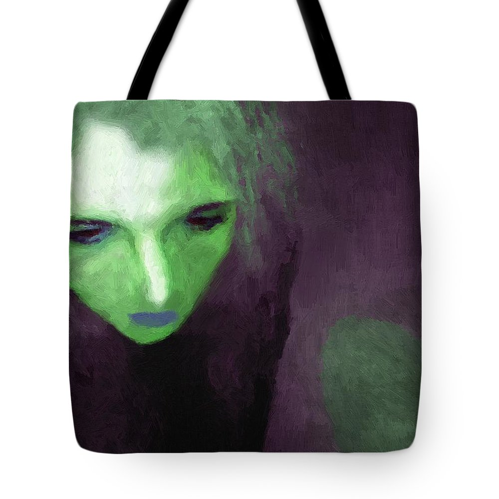 Woman Tote Bag featuring the painting Ophelia Condemned by RC DeWinter