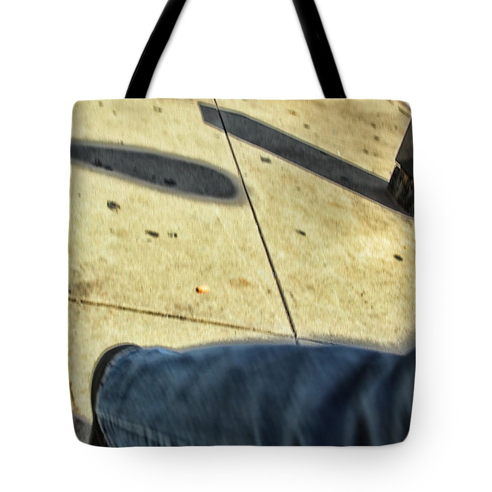 Stepping Tote Bag featuring the photograph Opposite Direction by Karol Livote