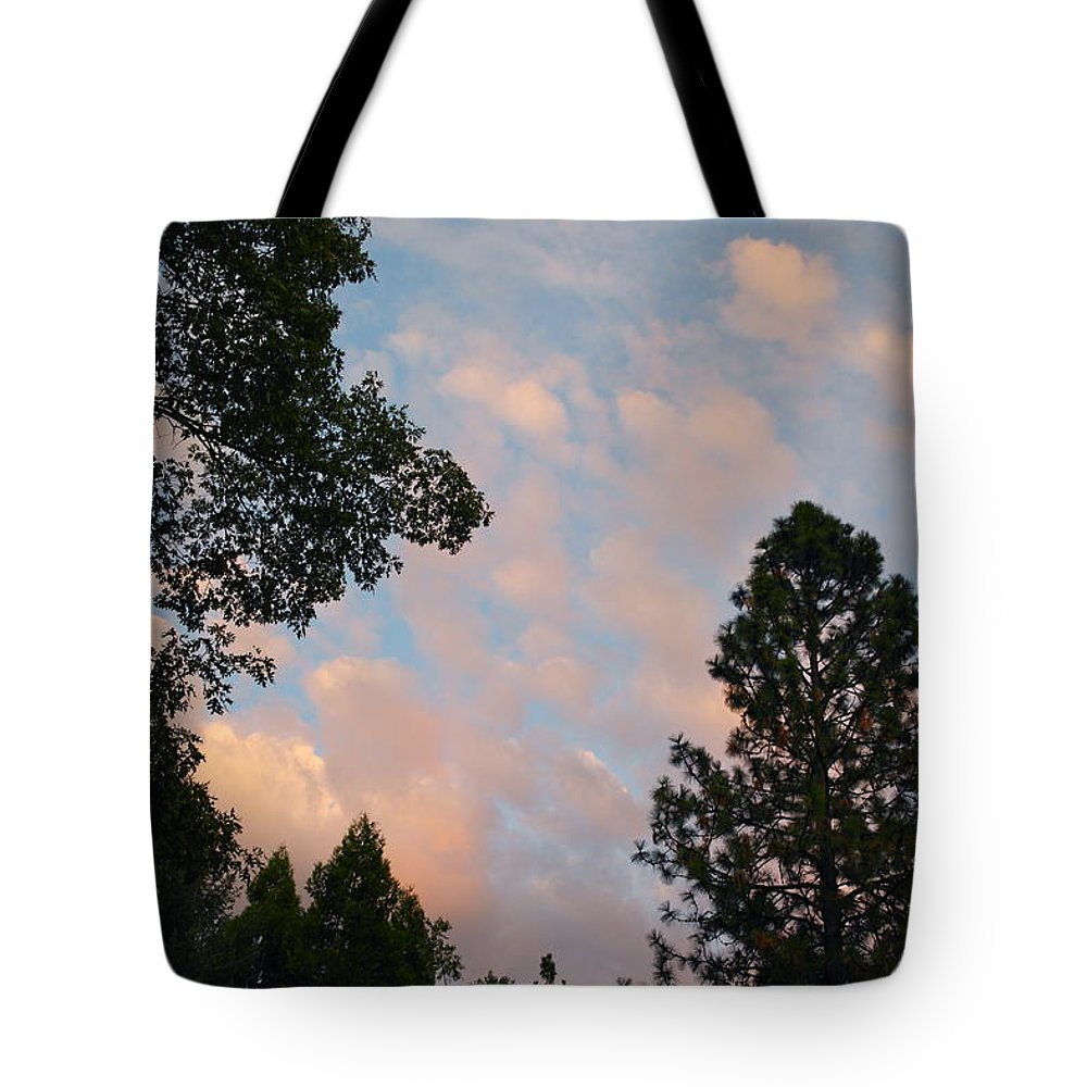 Sunset Tote Bag featuring the photograph Opposite The Sunset by Michele Myers